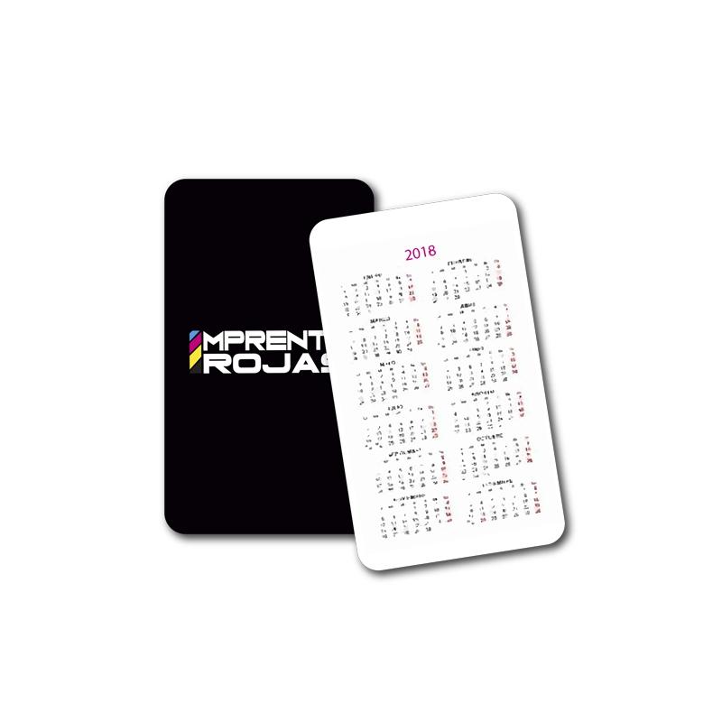 calendarios de bolsillo personalizados en imprenta Rojas. Somos fabricantes.